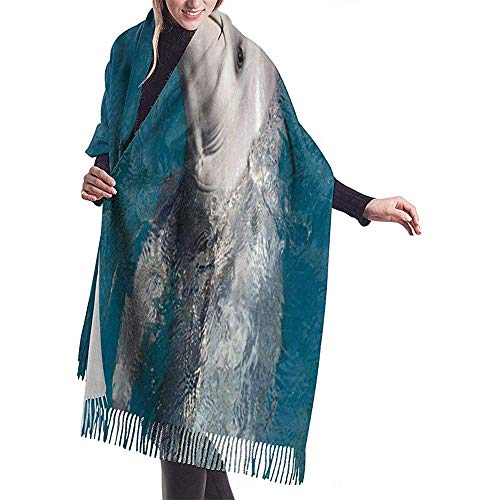 Elaine-Shop Damen Pashmina Schal Wrap Senior High Bowling Winter Warme Decke Schal Lang Poncho