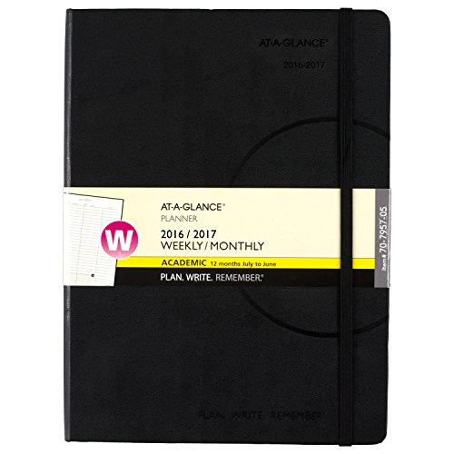 """AT-A-GLANCE Academic Year Weekly / Monthly Appointment Book / Planner, July 2016-June 2017, 7-1/2""""x10"""" (70-7957-05)"""