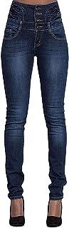Leslady Mujer Pantalones Vaquero Skinny Push Up Pantalones Elástico Jeans Cintura Alta Vaqueros Altos Ajustados Pantalones...