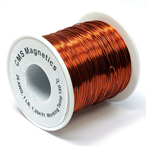 One Pound of 30 Gauge Magnet Wire for Science Projects | Copper Wire Enameled Temperature Rated 356 F School and Lab Experiment