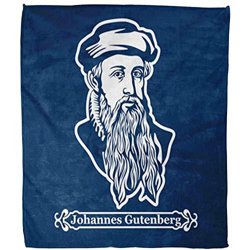 Kuscheldecke Katholik Johannes Gutenberg Erster Drucker Herausgeber Der Europäischen Decke Decke Warmes Weiches Fuzzy-Bett Sofa Fleece Decke Hotel Büro Wohnzimmer 102X127Cm