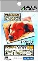 A-one 51394 デジカメ用L判シリーズ ホワイト耐水フィルムカード