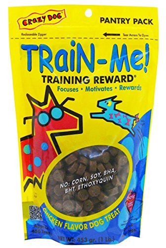 Crazy Dog Train-Me! Training Reward Dog Treats 16 Oz.,Chicken Regular