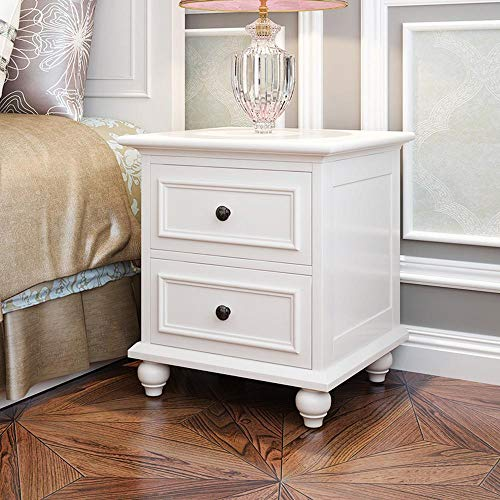 Sale!! CXJC Bedside Table Top Grade Solid Birch Nordic Modern Nightstand End Table with Drawer for L...