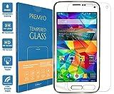 PREMYO Cristal Templado Protector de Pantalla Compatible con Samsung Galaxy S5 Mini Dureza 9H Bordes 2,5D Sin Burbujas contra Arañazos