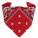 ...KARL LOVEN Bandane 100% cotone per donna uomo Bambini fazzoletto da collo bandana Rosso originale motivo paisley copricapo sciarpa per capelli collo polso testa cravatta motociclista