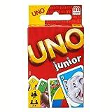 Mattel Games Juego de Cartas UNO Junior, Juego de Mesa para niños con Dibujos de Animales (Mattel GPM86)