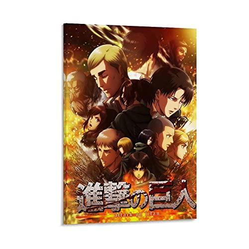 Póster de anime de Ataque a los Titanes y a la pared, impresión moderna de 50 x 75 cm