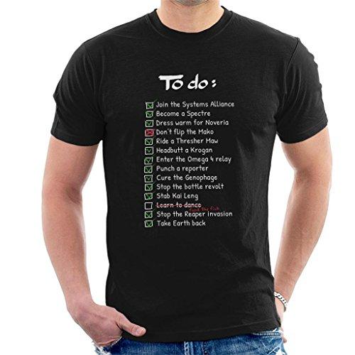 Cloud City 7 Mass Effect Commanders to Do List Men's T-Shirt