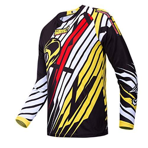 Maillot de Ciclismo para Hombre Camisa de Manga Larga MTB Camisa de Manga Larga Traje de Carreras Motocross Manga Larga