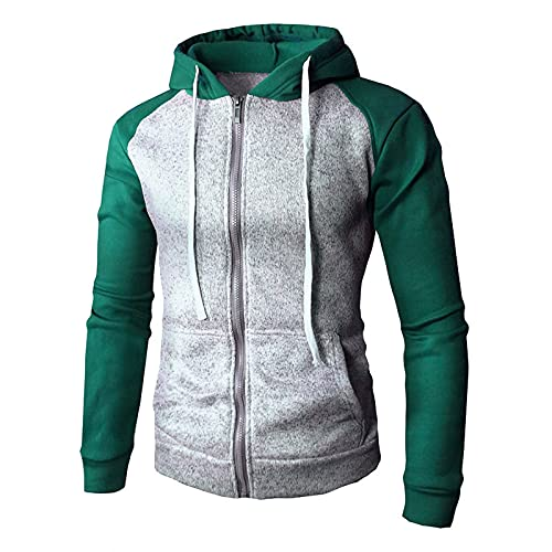 Men's Slim-fit Pokect Pullover Casual Long Sleeve Lightweight Drawstring Hooded Cardigan Sweater Sweatshirts with Pocket