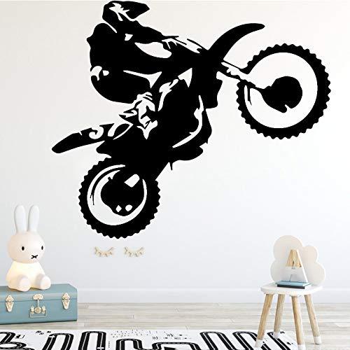mlpnko Jungen Motorrad Stunt Fahrer Wandaufkleber Schlafzimmer Tapete Kinderzimmer Dekoration Aufkleber,CJX19898-39x47cm