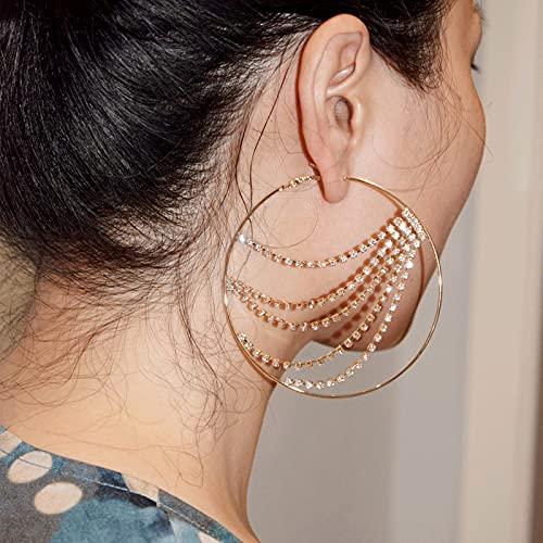 ketting dak oorbellen esthetische eenvoudige roestvrijstalen aar rij 9cm