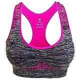 ACEBABY Sujetador Deportivo sin Costuras para Mujer Sujetador de Yoga de...