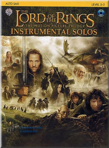 The Lord Of The Rings (Herr der Ringe) - Instrumental Solos Alto Sax - Altsaxophon Noten [Musiknoten]