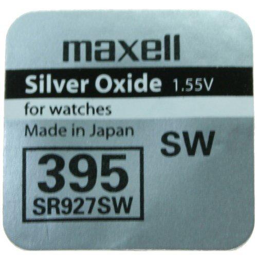 1x Pila Bateria Original Maxell 395 SR927SW 1.55V Pila Boton Oxido Plata Maxell