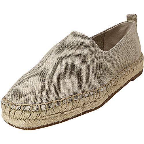 1.STATE Davir Natural/Gold Metallic Linen 7.5