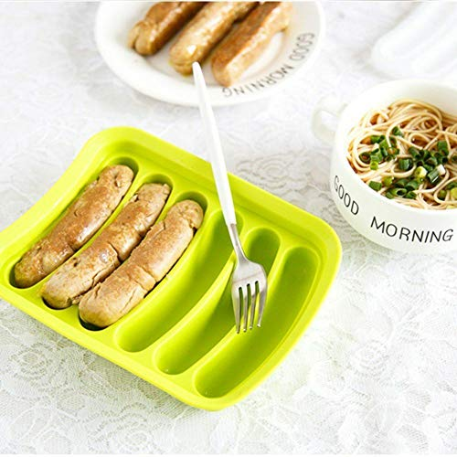 Non-Stick Silicone Sausage Mold for Homemade Hot Dogs Hot Dog Mold for Oven and Microwave Blue, 6-Cavity FDA Approved and BPA Free DIY Hot Dogs