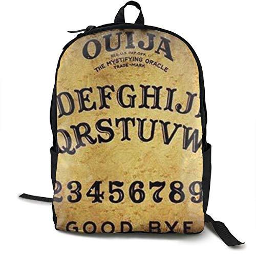 Gevaarlijke magische spel Ouija Board patroon populair ontwerp geweldig cadeau voor Valentijnsdag Rugzakken voor vrouwen mannen, Computer Laptop Rugzak, Casual boek tas Reizen Camping Daypack