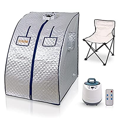 Asauna Portable Steam Sauna | Lightweight Personal Sauna Home for Weight Loss, Detox, Relaxation | Comes with Sauna Tent, Foldable Chair