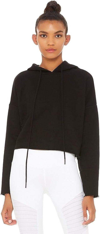 ALO Women's Box Hoodie Black Large