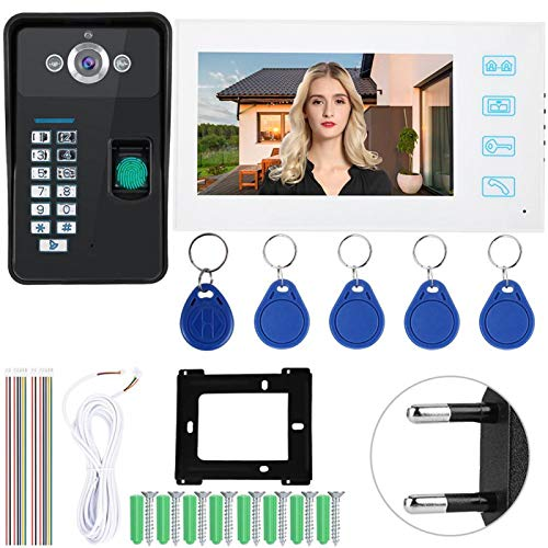 Visor de Puerta, 1000 Tarjetas de Usuario Sistema cableado Contraseña Videoportero, Villas para Apartamentos(European regulations)