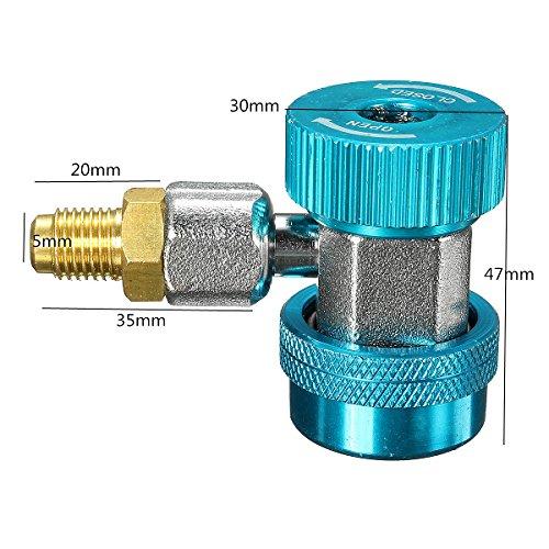 Tutoy R134A AC Quick Connecteur Adaptateur Coupleur avec Low Haute CVC - Bleu