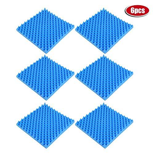 Liineparalle brandwerende geluidsisolatie akoestisch schuim ei krat schuim akoestische schuim tegels akoestische panelen studio schuim 6 Pack gemeenschappelijke geel en hoge dichtheid blauw 50 x 50 x 5cm