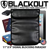 RFID Blocking Faraday Cage Privacy Bag EMP BLACKOUT Bag 11' X 9' Tablets Passports Credit Cards Smartphones Hard Drives iPad iPhone Galaxy