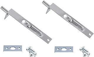 BTMB 6 Inch L Type Flush Bolt Concealed Security Door Lock for Composite Doors,French Doors,Wood Doors 2 Pack