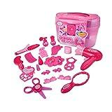 Ndier Las niñas pretenden Maquillaje Set Cosmetic Beauty Salon Toy pretenden Vestuario Vanity Kit para niños pequeños con Espejo Kids Makeup kit1 Set