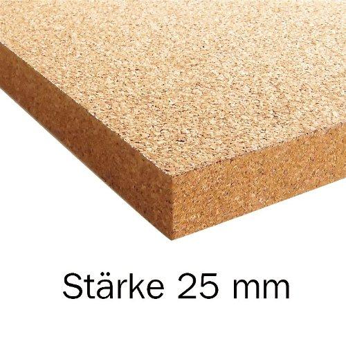 Bodentrend Korkplatte Pinnwand 915 x 610 x 3-25 mm stark (25 mm)
