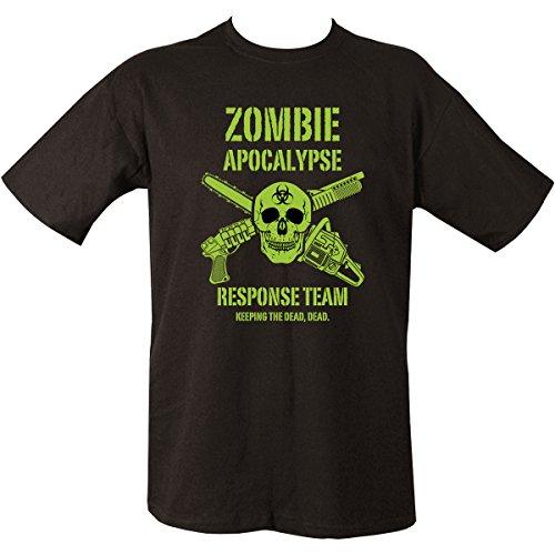 Kombat UK Zombie Apocalypse Camiseta, Hombre, Negro, Mediano