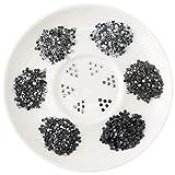Beadsland Crystal Hotfix Rhinestone,Machine Cut Stone with 6 Colors,Total 8640pcs(Mix-12, SS10/3mm)