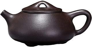 Teapot 8oz/240ml Chinese Yixing Genuine Black Clay Zisha Shipiao Pot Infusers Loose Tea (Standard classic)