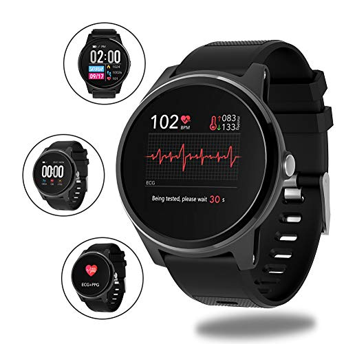 LUOZI Rastreador de Ejercicios, la Pantalla del Monitor del Ritmo cardíaco del sueño del Color del Tacto Actividad rastreadores IP67 Impermeable Reloj para los Hombres/Mujeres/niños