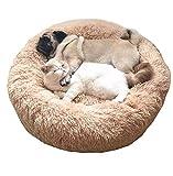 KongEU Cama ortopédica Grande para Perro, cojín Redondo Grueso Acolchado Antideslizante con Parte Inferior Impermeable, Suave y cálida Cama para Mascotas para 2 Perros o más