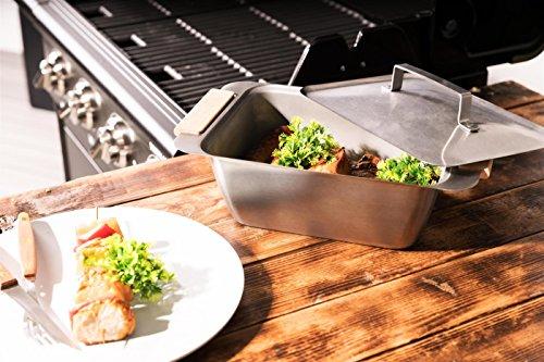 matrasa Dünstschale und Warmhaltebox CAZOO - Grillschale Grillbox mit Granitstein