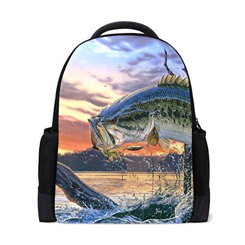 FANTAZIO Zaino Big Fish School Bag Daypack