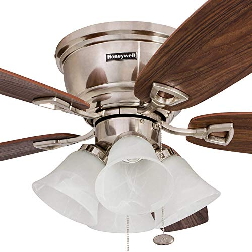 "Honeywell 50182 Quick-2-Hang Hugger Ceiling Fan, 52""..."