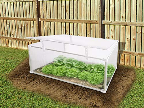 Hanover HANGHMN-3NAT Mini-Greenhouse Plant Protector-Lightweight and Portable, Natural/Silver