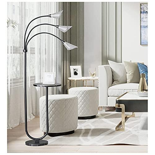 FYRMMD Lámpara de pie con 3 bandejas Principales, 3 temperaturas de Color Lámpara LED de pie para Sala de Estar, Dormitorio, Sala de Estudio y Oficina (lámpara de pie)