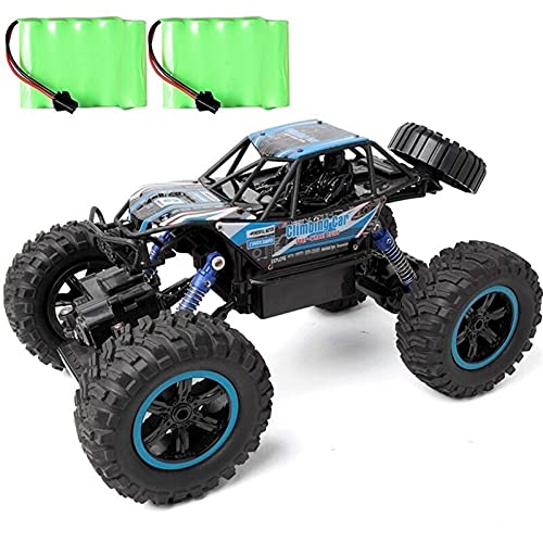 ZCYXQR Coches de Control Remoto Hobbyist Grade 4x4 Bigfoot para Adultos, 1:14 Off-Road Double Motors Toy Radio led Monster Truck Four Wheels Dri