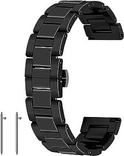Bracelet de montre en céramique à libération rapide avec fermeture par boucle déployante pour femme, homme - 20 mm, 22 mm...