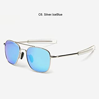 Gafas De Sol Militar del Ejército Americano Iceblue Plata Gafas De Sol Polarizadas Gafas De Sol
