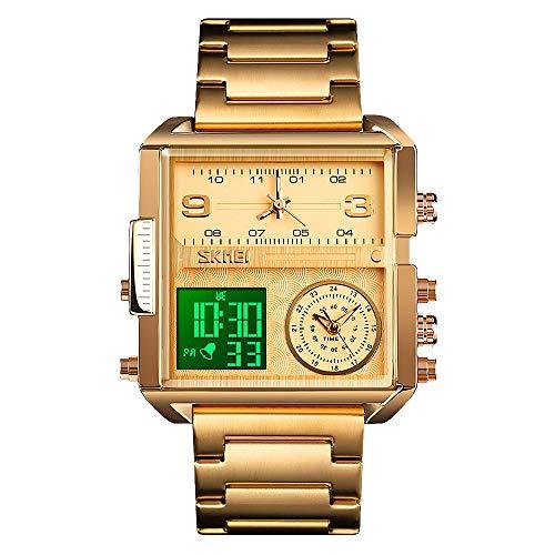 SKMEI Men Digital Watch, Waterproof Military Wrist Watch for Men, Analogue Quartz Watch with Luminous Chronograph Alarm