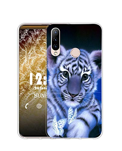 Sunrive Kompatibel mit Lenovo Z5s Hülle Silikon, Transparent Handyhülle Schutzhülle Etui Hülle (Q Tiger)+Gratis Universal Eingabestift MEHRWEG