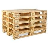 Pronovation IPPC Europalette NEU - 5 Paletten aus Vollholz - Holzpaletten...