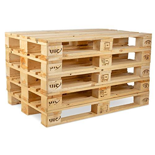 Pronovation IPPC Europalette NEU - 5 Paletten aus Vollholz - Holzpaletten Maße: 120x80 cm - Fabrikneu, Fichte