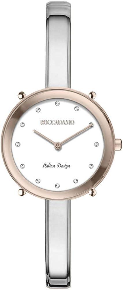 Boccadamo ,orologio per donna,in acciaio e cristalli swarovski Lo002